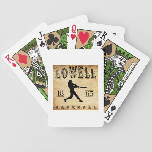 Béisbol 1865 de Lowell Massachusetts Baraja