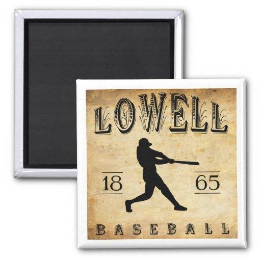 Béisbol 1865 de Lowell Massachusetts Imán De Frigorífico