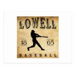 Béisbol 1865 de Lowell Massachusetts Tarjetas Postales