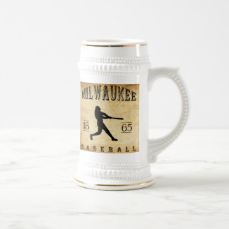 Béisbol 1865 de Milwaukee Wisconsin Jarra De Cerveza