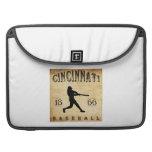Béisbol 1866 de Cincinnati Ohio Funda Para Macbooks