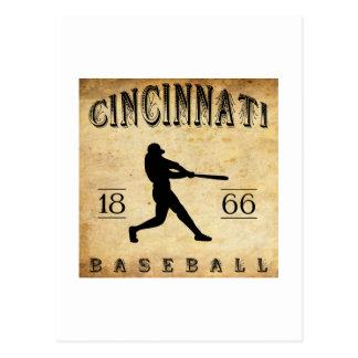 Béisbol 1866 de Cincinnati Ohio Tarjetas Postales