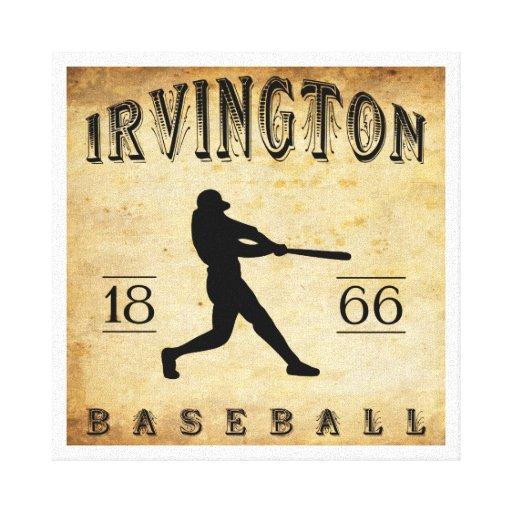 Béisbol 1866 de Irvington New Jersey Impresión De Lienzo