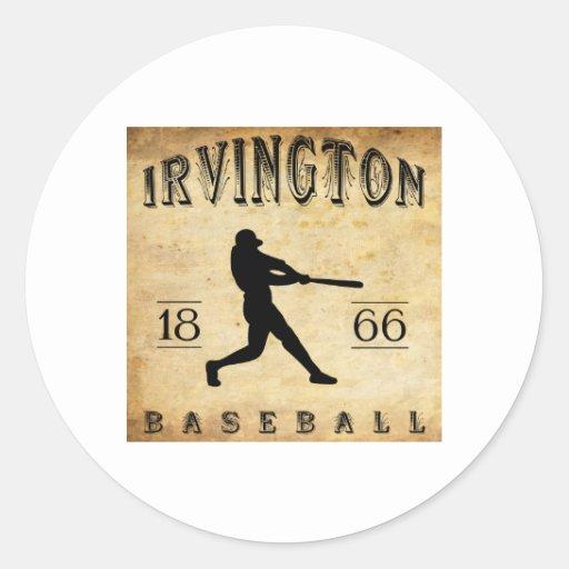 Béisbol 1866 de Irvington New Jersey Pegatinas