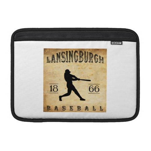 Béisbol 1866 de Lansingburgh Nueva York Fundas Macbook Air