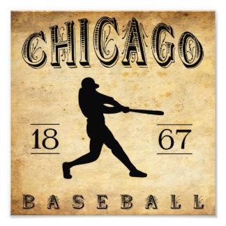 Béisbol 1867 de Chicago Illinois Fotografía