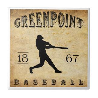 Béisbol 1867 de Greenpoint Nueva York Tejas Cerámicas