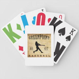 Béisbol 1867 de Greenpoint Nueva York Cartas De Juego