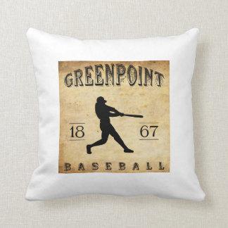 Béisbol 1867 de Greenpoint Nueva York Almohada