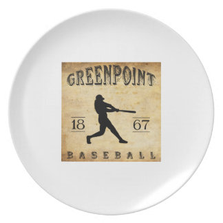 Béisbol 1867 de Greenpoint Nueva York Platos De Comidas