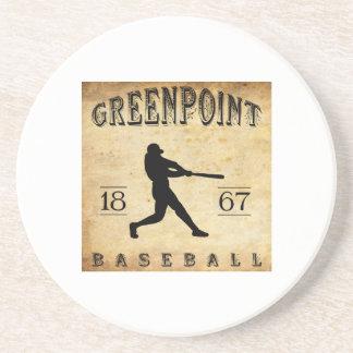 Béisbol 1867 de Greenpoint Nueva York Posavasos Personalizados