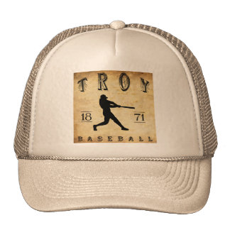 Béisbol 1871 de Troy Nueva York Gorros Bordados