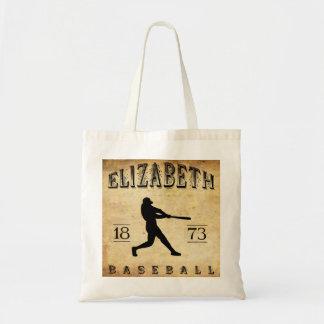 Béisbol 1873 de Elizabeth New Jersey Bolsa De Mano