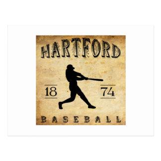 Béisbol 1874 de Hartford Connecticut Postales