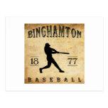 Béisbol 1877 de Binghamton Nueva York Postal