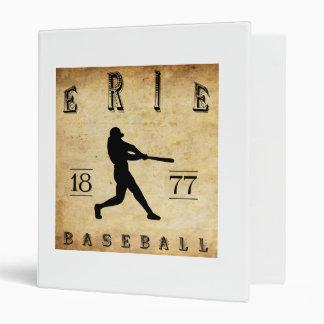 """Béisbol 1877 de Erie Pennsylvania Carpeta 1"""""""