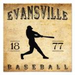 Béisbol 1877 de Evansville Indiana Impresión Fotográfica