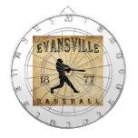 Béisbol 1877 de Evansville Indiana Tablero Dardos