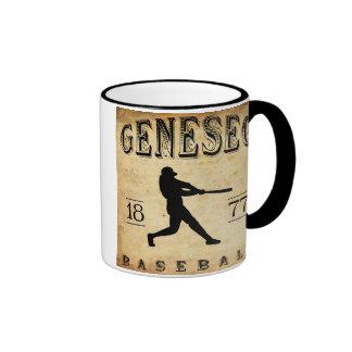 Béisbol 1877 de Geneseo Nueva York Taza A Dos Colores