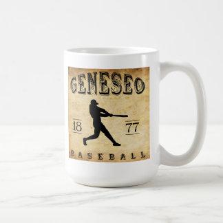 Béisbol 1877 de Geneseo Nueva York Taza Básica Blanca
