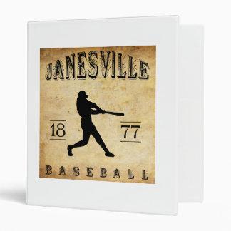 "Béisbol 1877 de Janesville Wisconsin Carpeta 1"""