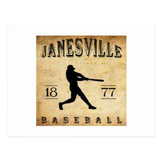 Béisbol 1877 de Janesville Wisconsin Postales