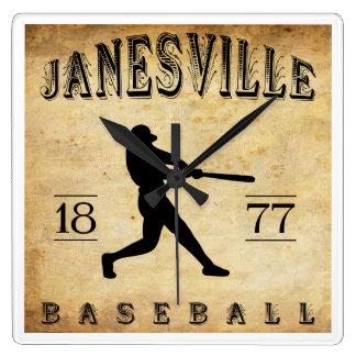 Béisbol 1877 de Janesville Wisconsin Reloj
