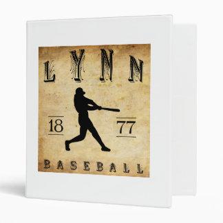 """Béisbol 1877 de Lynn Massachusetts Carpeta 1"""""""