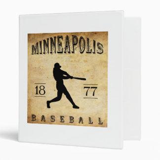 "Béisbol 1877 de Minneapolis Minnesota Carpeta 1"""