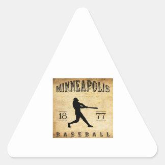 Béisbol 1877 de Minneapolis Minnesota Pegatina Triangular