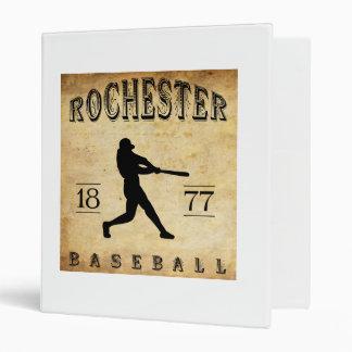 """Béisbol 1877 de Rochester Nueva York Carpeta 1"""""""