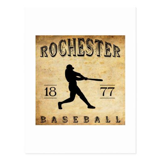 Béisbol 1877 de Rochester Nueva York Tarjeta Postal