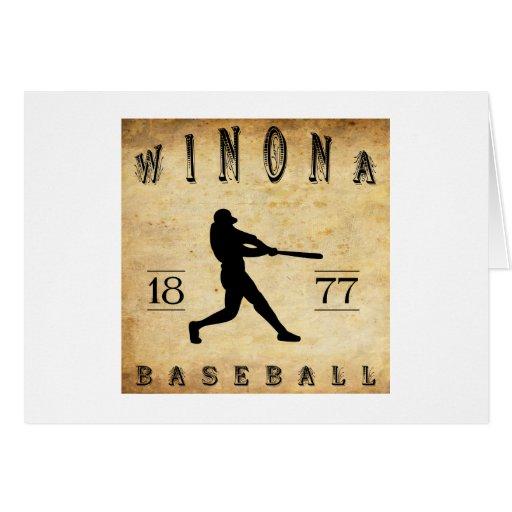 Béisbol 1877 de Winona Minnesota Felicitacion
