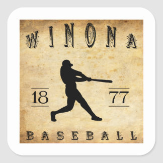 Béisbol 1877 de Winona Minnesota Pegatina Cuadrada