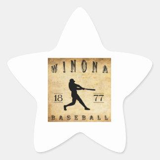 Béisbol 1877 de Winona Minnesota Pegatina En Forma De Estrella