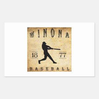 Béisbol 1877 de Winona Minnesota Pegatina Rectangular