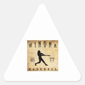 Béisbol 1877 de Winona Minnesota Pegatina Triangular
