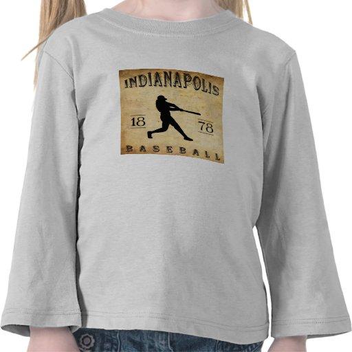 Béisbol 1878 de Indianapolis Indiana Camisetas