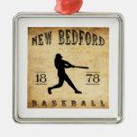 Béisbol 1878 de New Bedford Massachusetts Adornos De Navidad