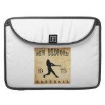 Béisbol 1878 de New Bedford Massachusetts Funda Para Macbooks