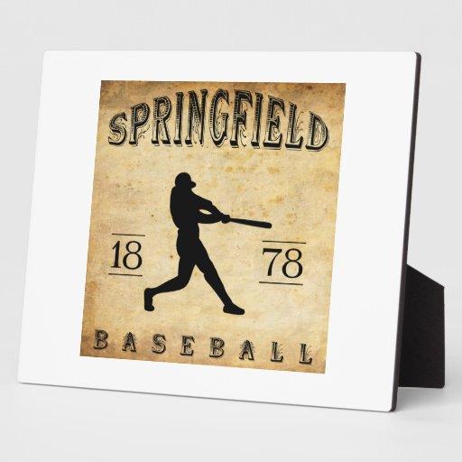 Béisbol 1878 de Springfield Massachusetts Placas Con Foto