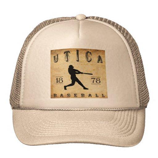 Béisbol 1878 de Utica Nueva York Gorros