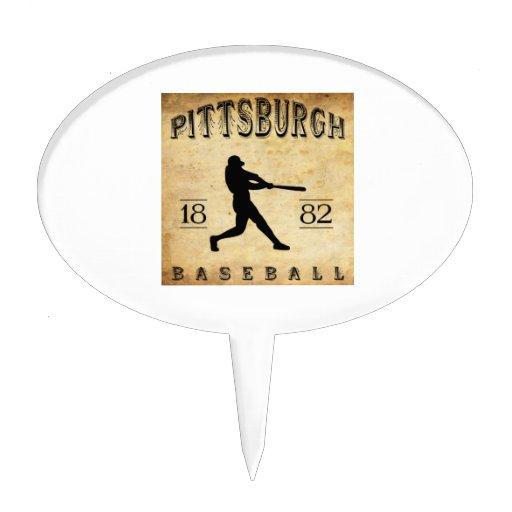 Béisbol 1882 de Pittsburgh Pennsylvania Decoración De Tarta