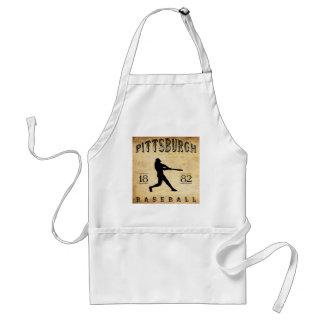 Béisbol 1882 de Pittsburgh Pennsylvania Delantal
