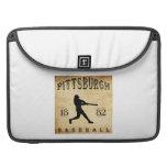 Béisbol 1882 de Pittsburgh Pennsylvania Fundas Para Macbook Pro