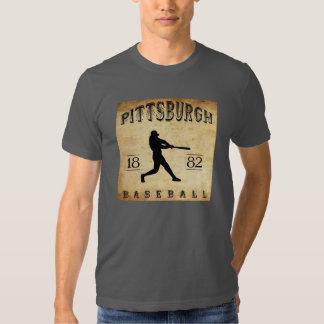 Béisbol 1882 de Pittsburgh Pennsylvania Poleras