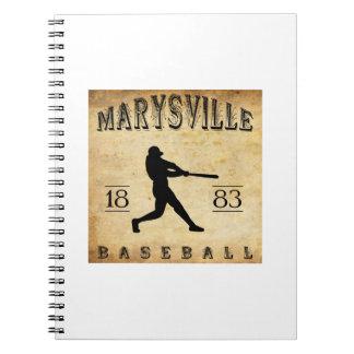 Béisbol 1883 de Marysville California Libro De Apuntes Con Espiral