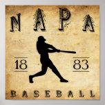 Béisbol 1883 de Napa California Poster