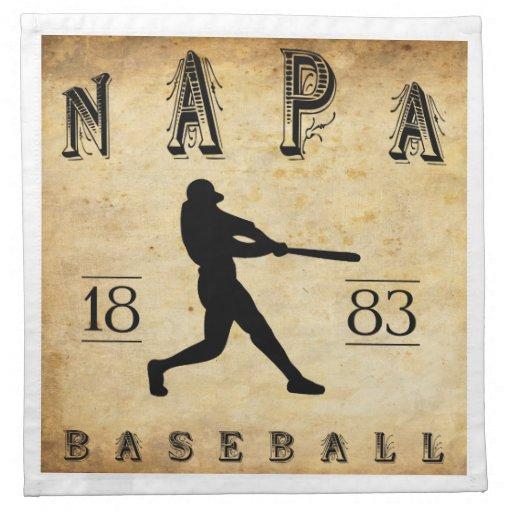 Béisbol 1883 de Napa California Servilletas De Papel