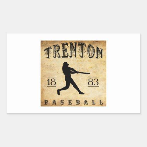 Béisbol 1883 de Trenton New Jersey Rectangular Altavoz